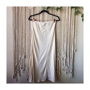 Cream Satin Skirt